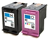 HouseOfToners Remanufactured Ink Cartridge Replacement for HP 61 (1 Black, 1 Color, 2-Pack)