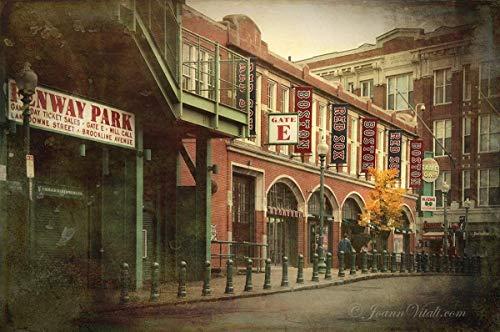 Vintage Fenway Park Wall Art, Red Sox Wall Decor, Choose PRINT, CANVAS, WOOD ()