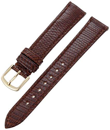 Hadley-Roma Men's MSM701RB-160 16-mm Brown Genuine Lizard Leather Watch Strap