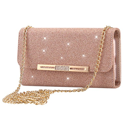LONTECT Glitter Leather Detachable Magnetic