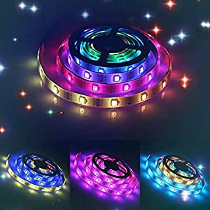 LED Light Strips USB 5V 1M 3.28Ft SMD 5050 RGB 30leds 30 Pixel WS2812B IC Dream Color Waterproof Light Kit with Mini Controller