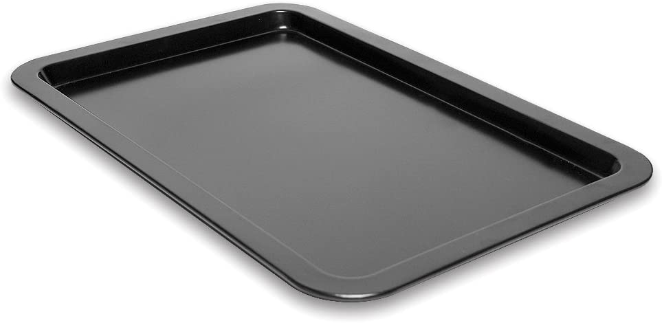 "Cookie Sheet Tray 17"" Made of Non-Stick Black Aluminum for Home Kitchen and Catering"