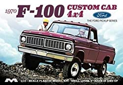 1/25 Moebius Models 1970 Ford F-100 Custom Cab 4X4 Pickup Truck (Kit) - 1230 by Moebius Models