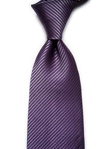 Soophen New Polyester Textile Men's Tie - Purple