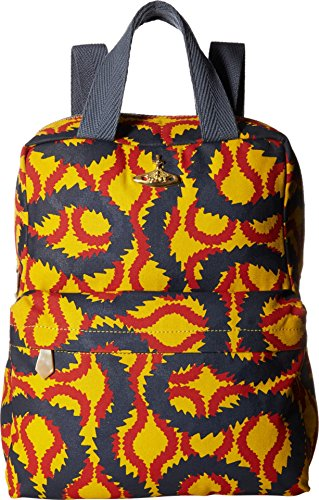 Vivienne Westwood  Men's Africa Squiggle Backpack/Shopper Yellow/Red/Blue One Size by Vivienne Westwood