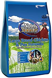 Nutri Source Grain Free Large Breed Chicken Amp Pea 30