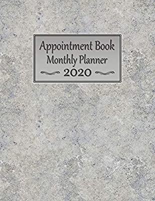 Appointment Book Monthly Planner 2020: Large 8.5 x 11 Dated ...