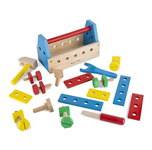 Wooden Construction Toys : Melissa doug take along tool kit wooden construction toy