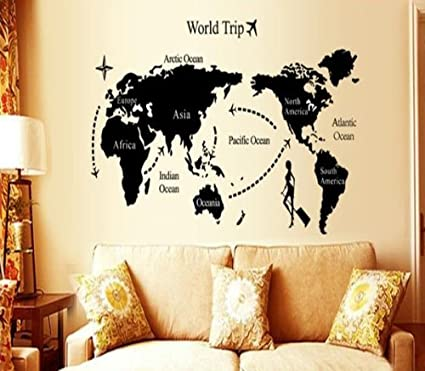Universal travel world map wall sticker eco friendly decoration universal travel world map wall sticker eco friendly decoration gumiabroncs Gallery