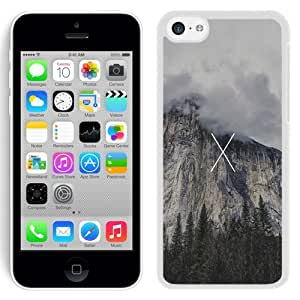 Customized Phone Case Design with Mac OSX Yosemite Cliff Logo iPhone 5C Wallpaper in White
