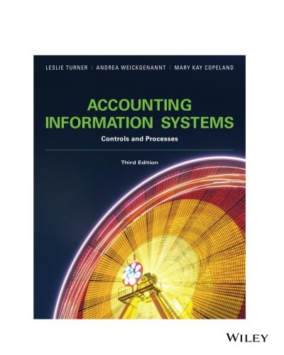 Accounting Information Systems: Controls and Processes, 3rd Edition: Controls and Processes (Accounting Information Systems Controls And Processes 3rd Edition)