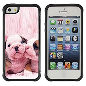 ZETECH CASES / Apple Iphone 5 / 5S / FRENCH BULLDOG CUTE PINK LOVE DOGS / Francés dogo lindo rosa amor perros / Robusto Caso Carcaso Billetera Shell Armor Funda Case Cover Slim Armor