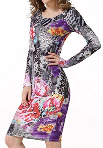 Spell Crewneck Party Sleeve Comfy Dresses Print Pattern1 Women Digital Long Color Yqx8fwt