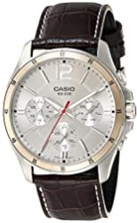 Casio Enticer Chronograph White Dial Men's Watch - MTP-1374L-7AVDF (A835)