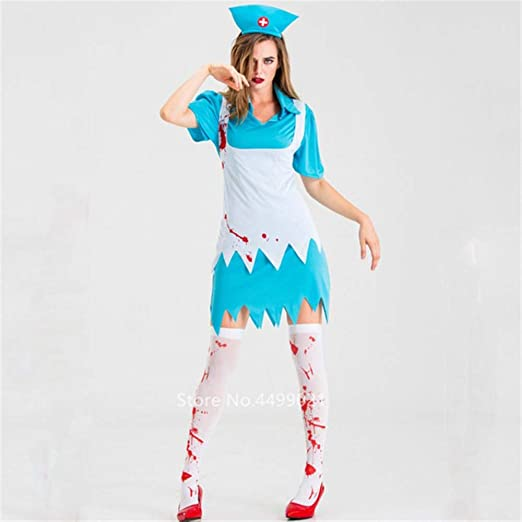 Opak Vestido de Halloween para Mujer Uniforme de Enfermera médica ...