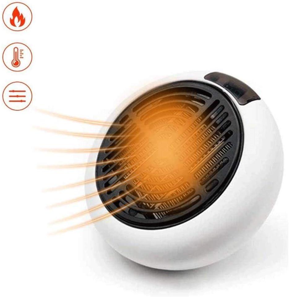 SCDFS Ventilador eléctrico portátil, Calefactor doméstico, Mini Calentador, con protección contra sobrecalentamiento, Disponible en la Oficina en casa, Negro, Blanco (Color : Gray)