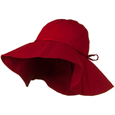 277e9f58d Big Cotton Wide Floppy Brim Hat - Red (for Big Head)
