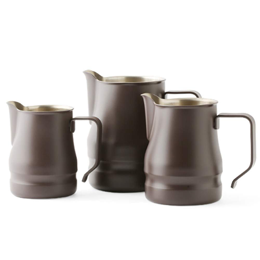 Ilsa Evolution Milk Frothing Pitcher Professional Latte Art Milk Steaming Jug Stainless Steel, Coffee Grey - 750ml / 25oz by Ilsa (Image #4)