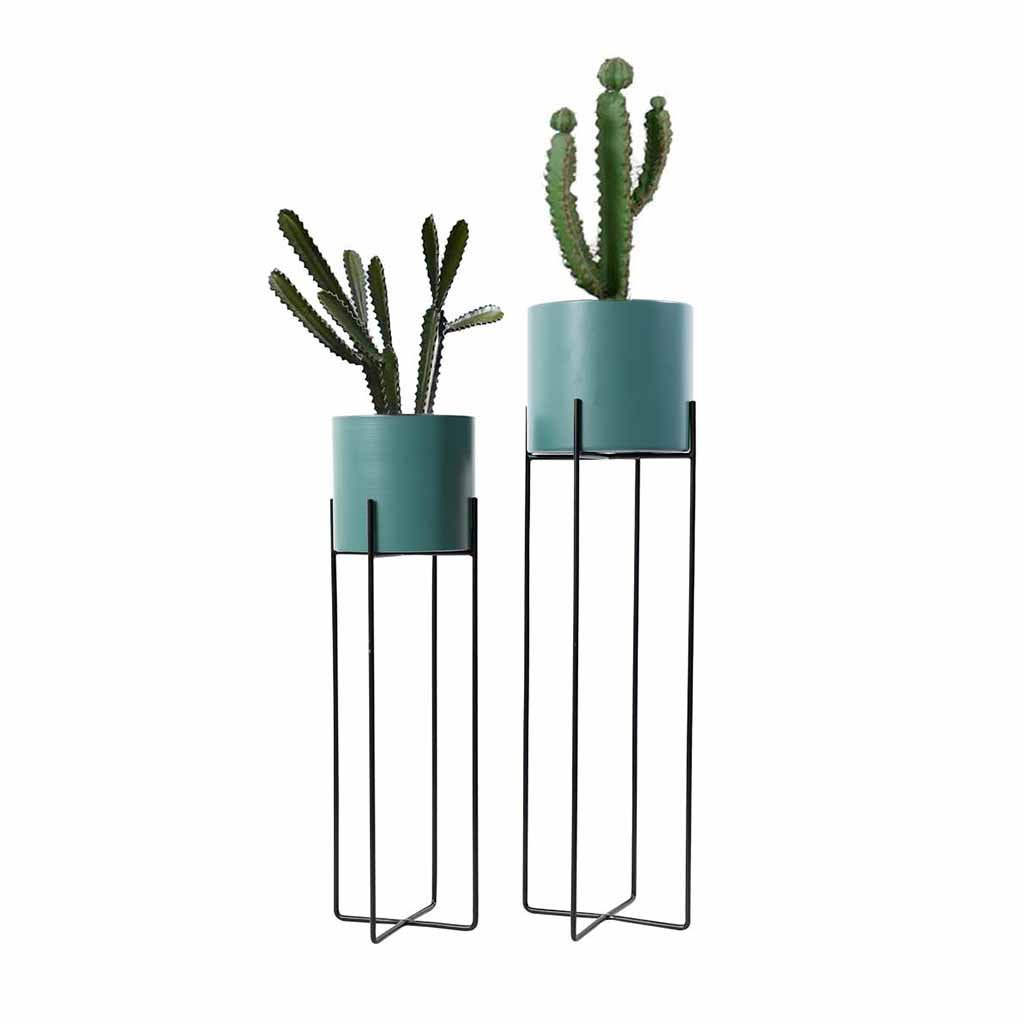 Espositore per fiori Flower Stand Indoor Floor Standing Vaso da fiori Rack Living Room Herb Bonsai Decorazione Display Shelf Planter Holder Balcone Outdoor Simple Modern (colore  blu) Portavaso