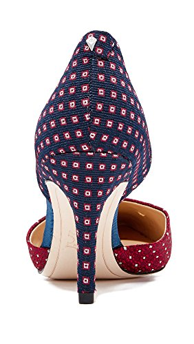 Frauen Snake Escarpins Sam WHT Blue Multi Print Femme Telsa US Red Edelman Fabric Multi Blk Tie YqEwzA