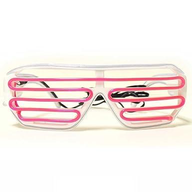 Amazon.com: Cyan and Pink LED Glasses - GloFX Luminescence Shutter ...