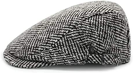 REXA Herringbone Newsboy Panel Tweed Gorra Plana para Hombre,5 ...