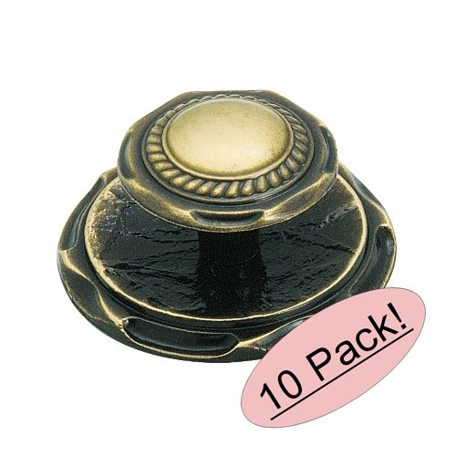Amerock BP778-AE Antique English Cabinet Hardware Knob and Backplate - 2