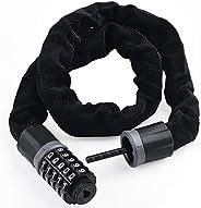 Bike Lock, [Reinforce Version][7mm x 2.95ft] Diyife Weatherproof Heavy Duty Bike Chain Lock, 5-Digit Anti-Thef