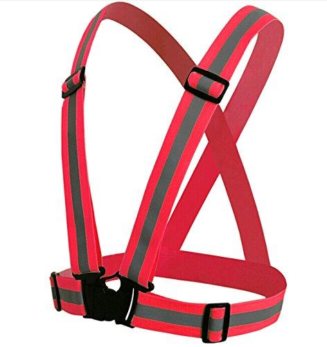 UDIT Red Adjustable Safety Security High Visibility Reflective Vest Jacket Night Running by UDIT (Image #1)