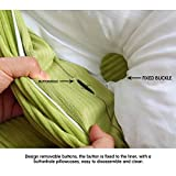 WOWMAX Triangular Reading Pillow Large Bolster