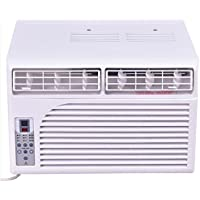 K&A Company Window Mounted Air Conditioner Remote Control Compact White Compact 6000 BTU 115V