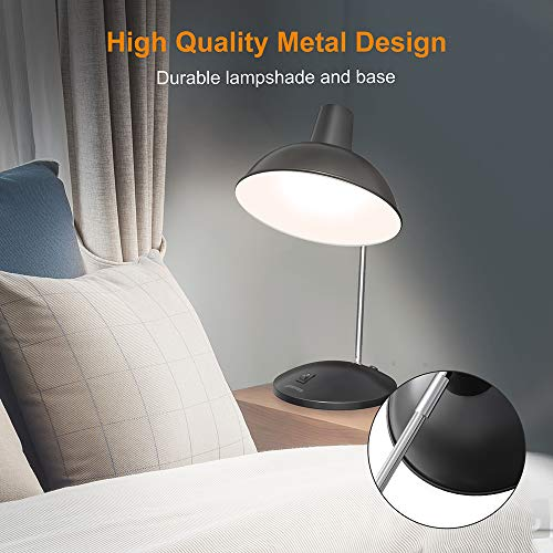 LEPOWER Metal Desk Lamp, Modern Study Table Lamps, Adjustable Office Desk Reading Light for Living Room, Bedroom and Office