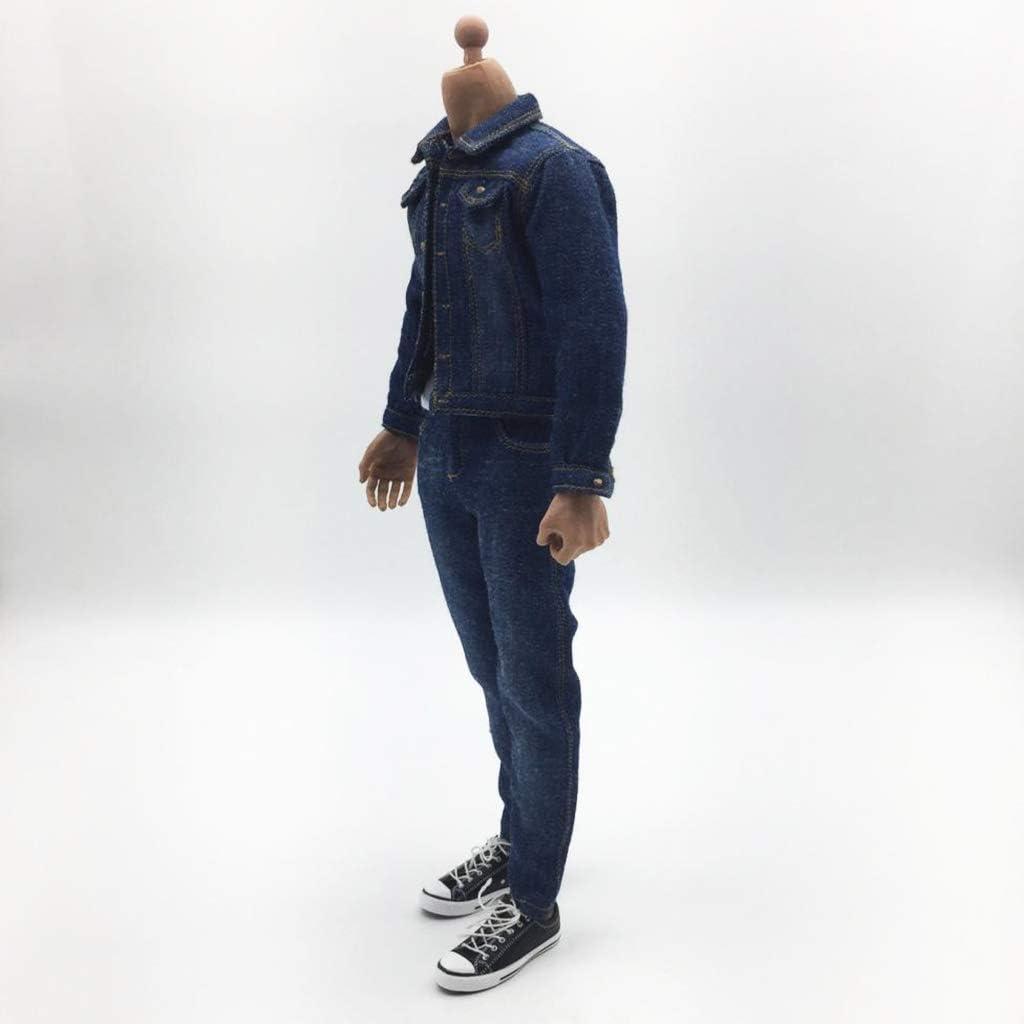 Sharplace 1//6 Scala Action Figure Vestiti Jeans Cappotto Pantaloni Set Completo di Accessori