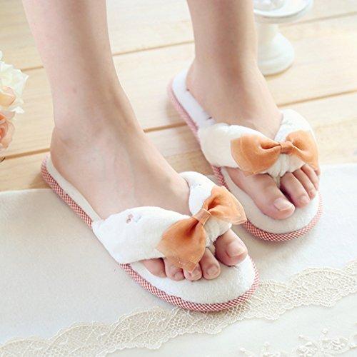 Fortuning's Bout Tongs Blanc Ouvert Toison Maison Dames Velours Arc Plateforme Fils Jds® Sandales Femmes Pantoufles Plate rzqxrRP