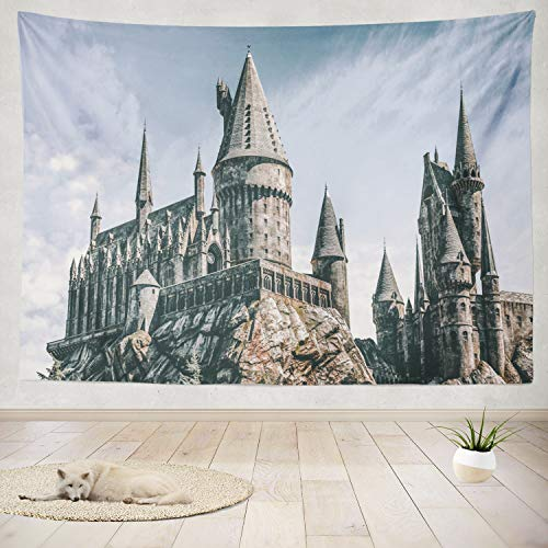 "ONELZ Decor Collection,Hogwarts Castle The Wizard World of Harry Potter Bedroom Living Room Dorm Wall Hanging Tapestry 60"" L x 80"" W Polyester & Polyester Blend"