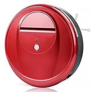 EVERTOP Aspirateur robotique de sol, Nettoyeur Intelligent Robot balayeur de haute puissance Robot Nettoyeur des ménages sans fil (FD-RSW(D)-Rouge)