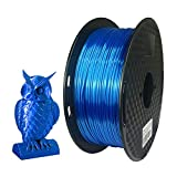 Silk Sapphire Blue 3D Printer PLA Filament 1.75mm 1kg(2.2LBS) Silky Feeling Shine Shiny Dark Deep Blue Material CC3D Shiny Silk Gold Silver Copper
