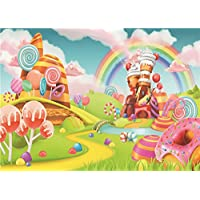 Daniu Sweet Cartoon Backdrops Lollipop Photo Props Rainbow Baby Photography Background Vinyl 7x5FT 210cm X 150cm Daniu-JP081