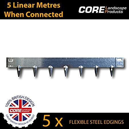 CORE Edge Flexible Steel Garden Edging (5 Per Pack) Covers Just Over 5  Linear