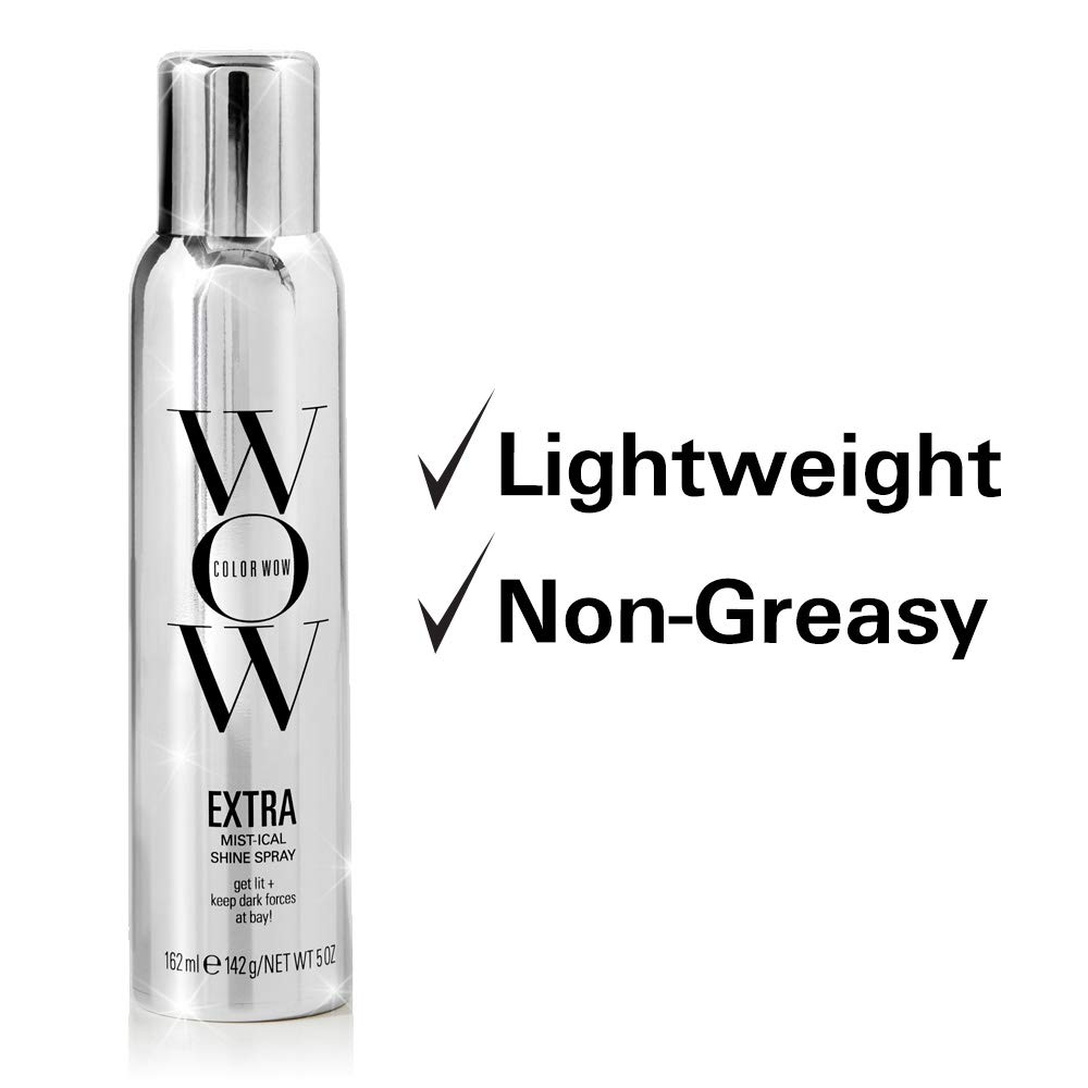 Amazon.com: COLOR WOW Extra Mist-ical Shine Spray for All Hair Types, Thermal Protection, 5 Oz.: Premium Beauty
