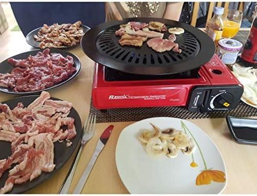 TeRIydF Grill extérieur Grill antiadhésif Grill Grill Disc Grill Facile à Nettoyer en Acier au Carbone Grill Accessoires de Barbecue Outils
