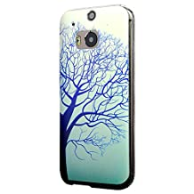 HTC One M8 Case, Cruzerlite Print Cases (PC Case) Compatible with HTC All New One (M8) 2014 - Blue Tree