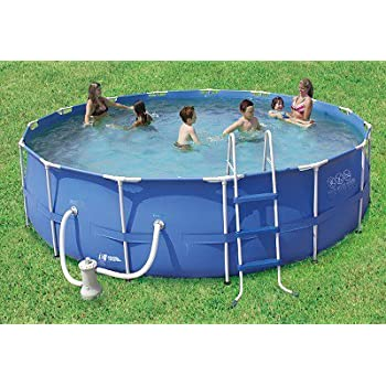 Amazon Com Summer Escapes 15 X 48 Round Swimming Pool Set