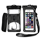 Bags Cases Best Deals - Vansky® Floatable Waterproof Case Dry Bag Cellphone Pouch With Armband and Audio Jack for iPhone 7 Plus, 7, 6, 6 Plus, 6s,5s,Andriod; Eco-Friendly TPU Construction and IPX8 Certified to 100 Feet