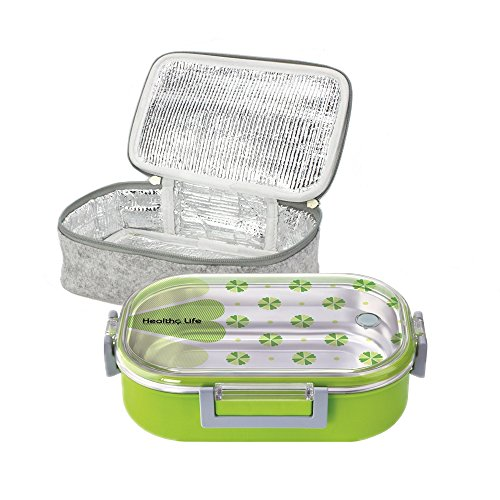 Lille 32oz Stainless Steel Thermal Lunch Box, Insulated Bento Box/Food Container with Insulation Lunch Bag | Adults, Kids | Men, Women by Lille