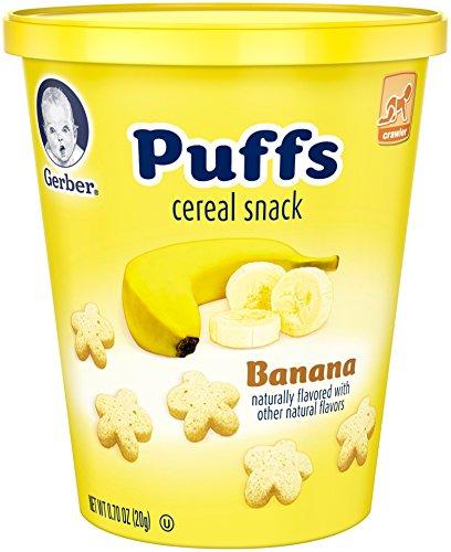 Gerber Graduates Puffs, Banana Cup, 0.70 oz - Banana Puffs