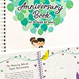 Wedding Anniversary Memory Book - A Hardcover Journal To Document Anniversaries From The