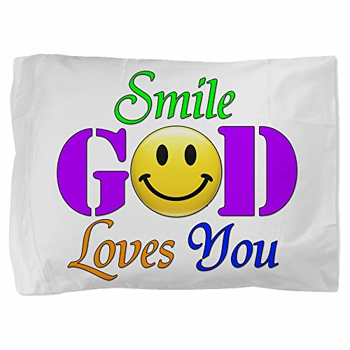 Royal Lion Twin Full Queen Pillow Sham Smile God Loves You by Royal Lion