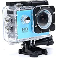 Full HD 1080P 12 MP Waterproof Sports Camera Cam - HDMI Output Underwater Action Camera - 1.5 Inch LCD Screen - 170 Degree Super Wide Angle Lens and free Accessories Blue