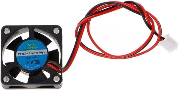 Junlinto, Ventilador de Impresora 3D 3010 24V 2Pin 30x30x10mm Mini ...